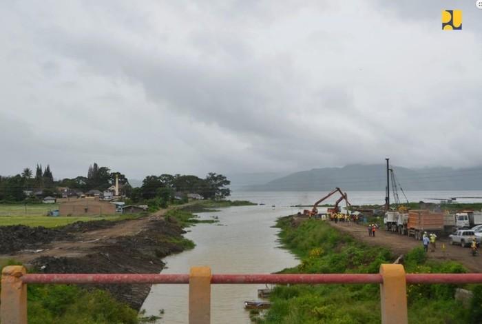 Jembatan Aek Tano Ponggol Mulai Dibangun