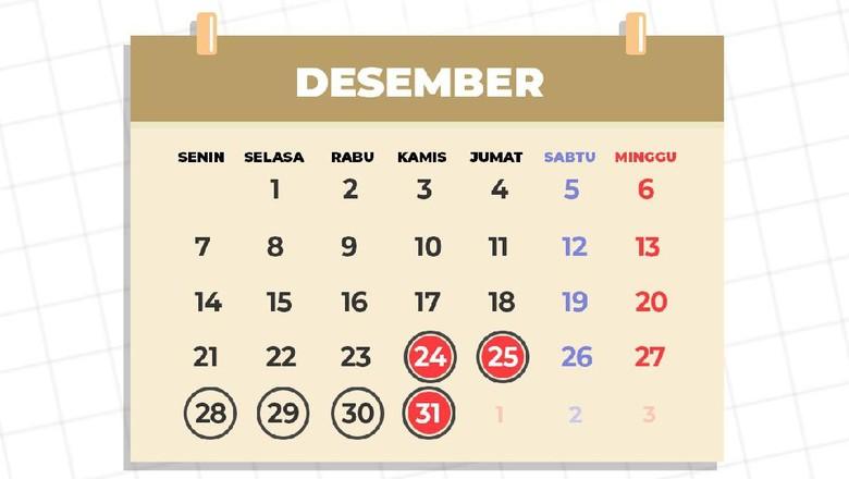 Kalender libur akhir tahun dan cuti bersama 2020 yang disahkan oleh pemerintah.