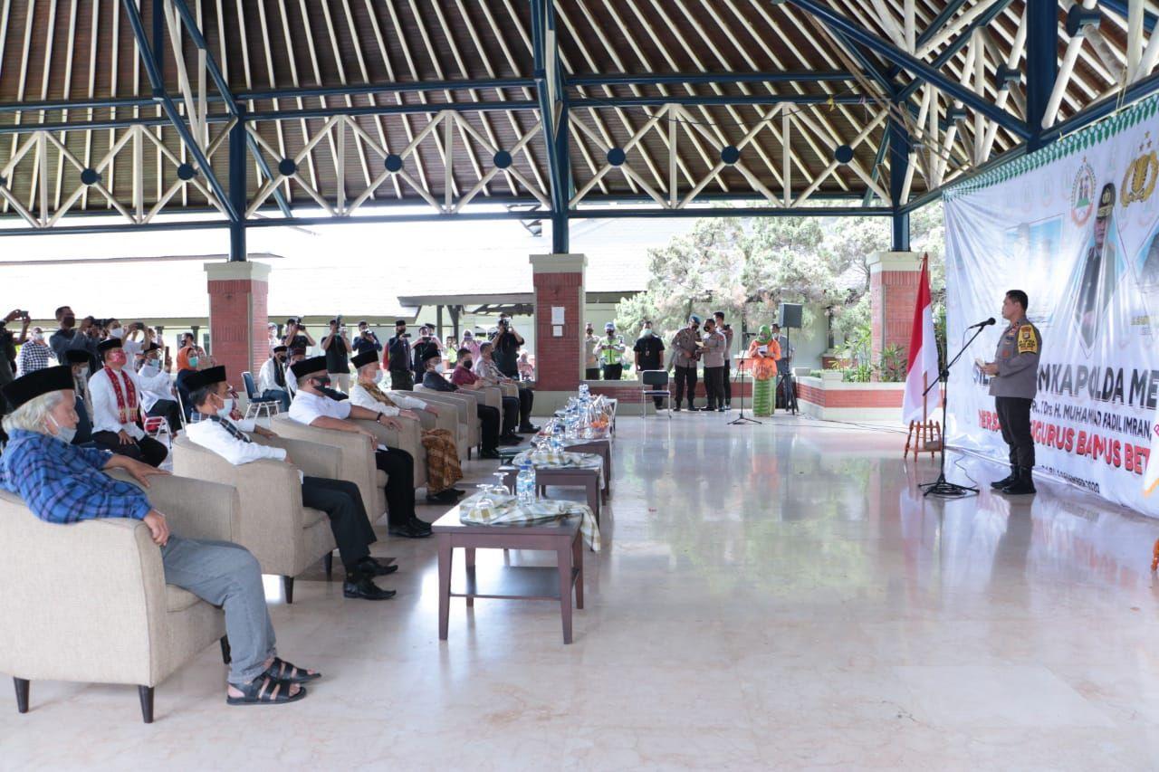 Kapolda Metro Jaya Irjen Fadil Imran menemui ormas dan tokoh Betawi