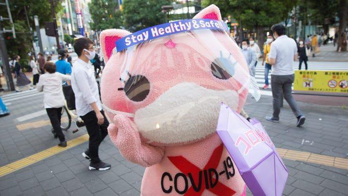 Maskot COVID-19 di Jepang.