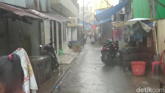 Lokasi penembakan warga di Makassar (Hermawan-detikcom).