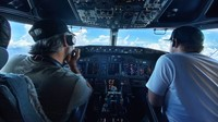 Tuh lihat, pilotnya saja tak pakai seragam. Santuy banget! (Jet Test and Transport)