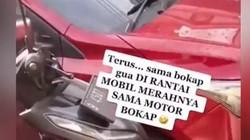 Viral Mobil Parkir Sembarangan Depan Rumah Orang: Akhirnya Dirantai Pakai Motor