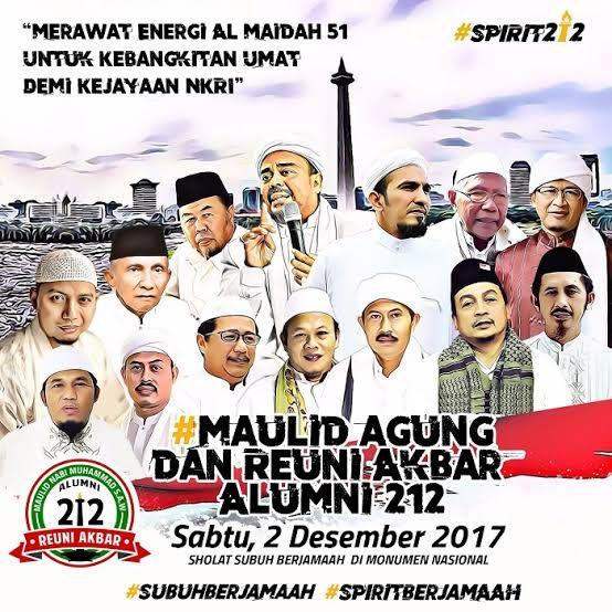 Poster Reuni 212 tahun 2017