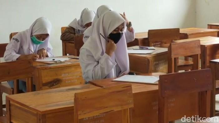 Sejumlah sekolah di Garut sudah menggelar KBM tatap muka