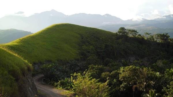 Dalam bahasa setempat, Yomokho memiliki arti khusus, yaitu kampung yang berdiri di atas bukit. Yo dalam bahasa Sentani adalah kampung, mokho adalah bukit. Pada masa prasejarah, bukit ini dihuni oleh nenek moyang masyarakat Pulau Asei. (Hari Suroto/Istimewa)