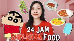 YouTuber Cantik Ini 24 Jam Lahap Makanan yang Ada di Kartun Shin-Chan