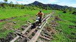 Akses Jalan Desa Terpencil di Kerinci Ini Kurang Memadai