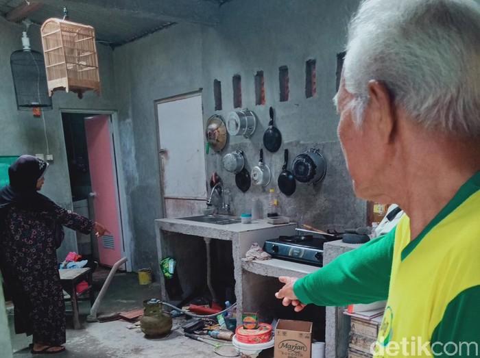 Dapur lokasi penemuan ular kobra di Klaten, Kamis (3/12/2020).