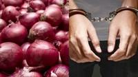 Ketahuan Disogok Pakai Bawang, Polisi Ini Langsung Ditangkap