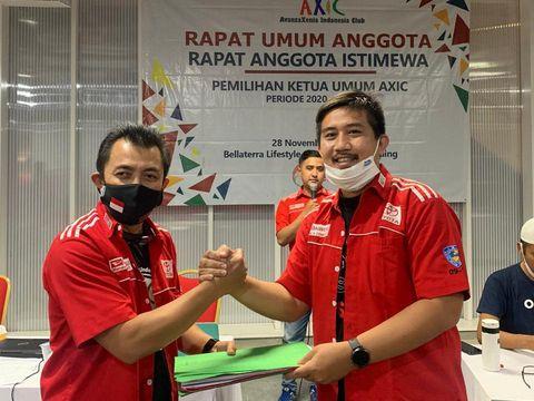Ichan Chaniago dari chapter Pedang Oetara (POC) menjadi ketua umum AXIC periode 2020-2022, menggantikan Taufik Hidayatulloh asal chapter Cleopatra (Jakarta Timur).