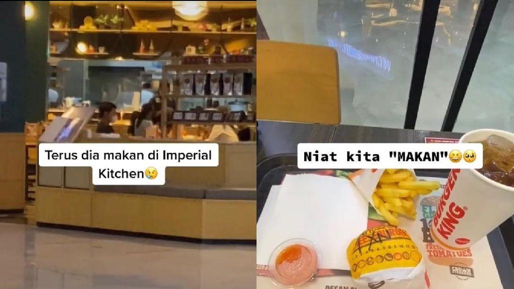 Kocak! Beda Selera, Pasangan Ini Makan di Restoran Berbeda