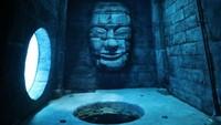 Di bagian bawah kolam terdapat bangkai kapal kecil hingga replika reruntuhan bangunan zaman dahulu yang bisa dijelajahi. (Deepspot)