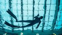 Kolam renang baru ini mengalahkan Y-Deep Joy di dekat Venesia, Italia yang kedalamannya mendapai 42 meter. (AFP)