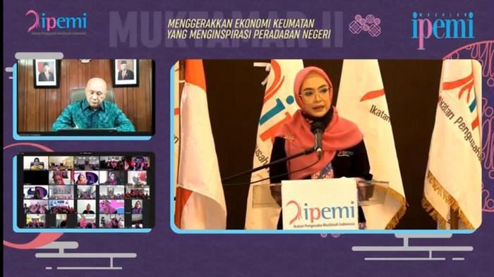 Ikatan Pengusaha Muslimah Indonesia (IPEMI) menggelar muktamar ke-2 secara virtual. Aktivitas ini jadi momentum pengusaha muslimah berkontribusi.