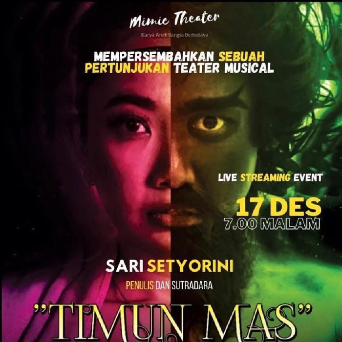Pertunjukan Musikal Timun Mas Tayang Virtual 17 Desember 2020