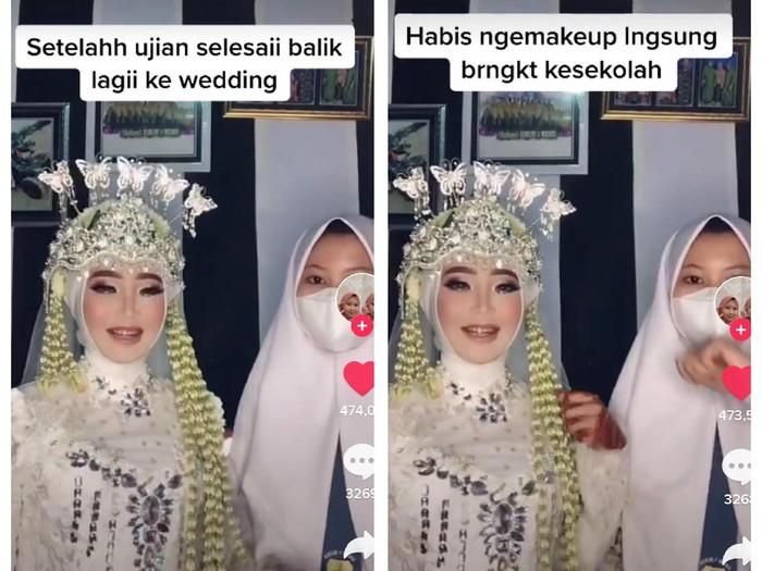Kisah Imroatul Nur Cahyani, siswi SMA yang sudah jadi MUA