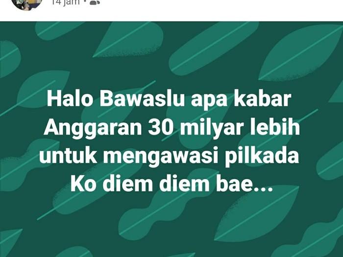Anggota DPRD kritik kinerja Bawaslu Sukabumi.