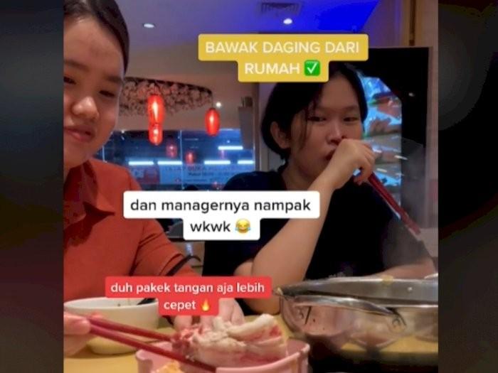 Ogah Rugi, 5 Orang Ini Bawa Makanan Sendiri saat Makan di Restoran