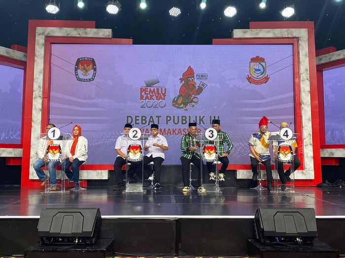 Debat ketiga Pilwalkot Makassar (Foto: dok. KPU)