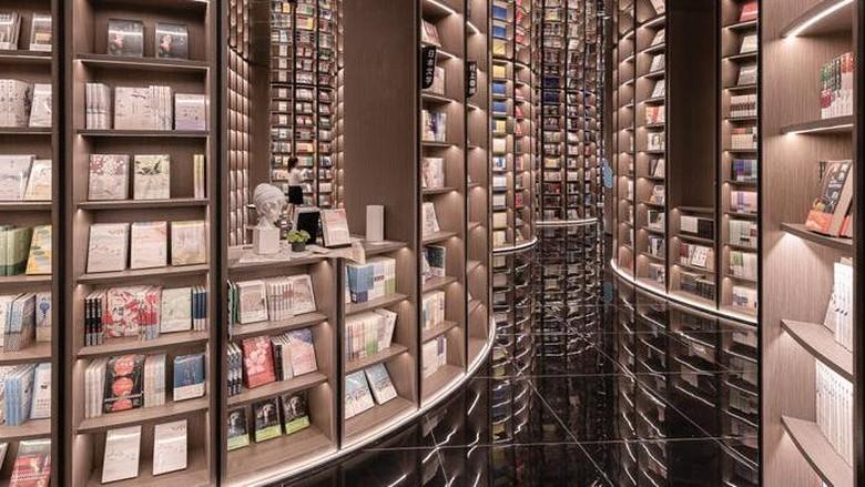 Perpustakaan di Sichuan, China.