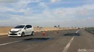 Hati-hati! Jalan Tol Palembang-Kayu Agung Banyak Lubang