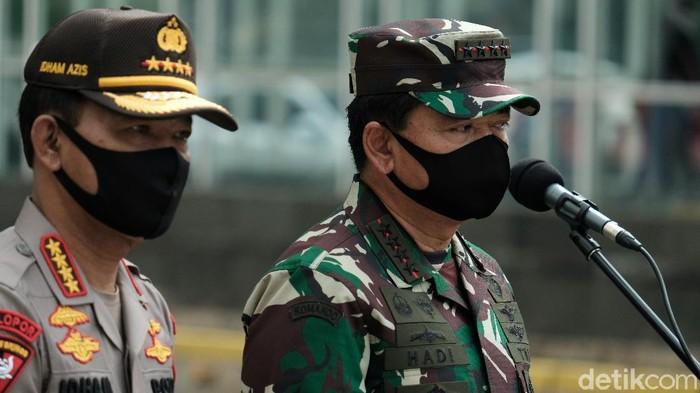 Panglima TNI Marsekal Hadi Tjahjanto dan Kapolri Jenderal Idham Azis