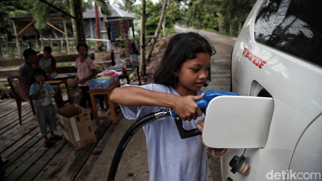 Potret Pom Bensin Mini di Pulau Terluar RI