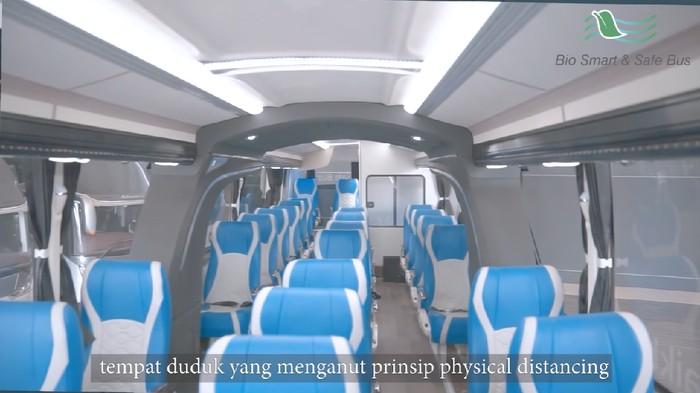 Produk bus social distancing terbaru dari karoseri Laksana