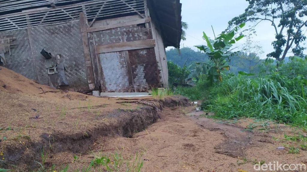 Pergerakan Tanah di Sukabungah Cianjur Meluas, Warga Diminta Waspada