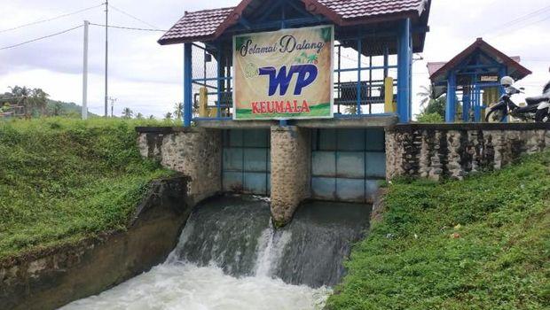 Kolam pemandian di Kabupaten Pidie, Aceh.