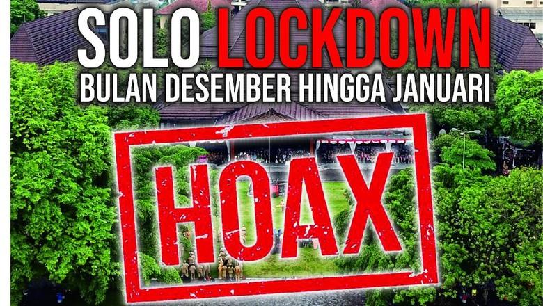 Hoax isu Solo lockdown.