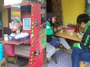 Khusus Ojol, Penjual Mie Ayam Ini Kasih Harga Rp 5 Ribu per Porsi