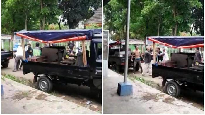Penjual Tahu Bulat Beradu Jotos di Sukabumi