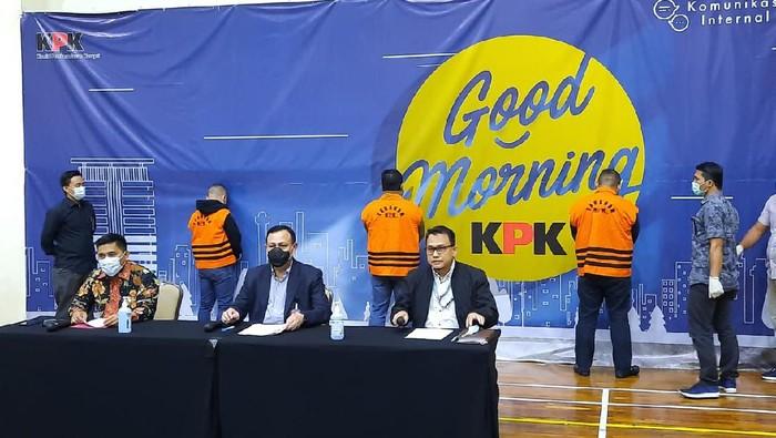 KPK jumpa pers OTT pejabat Kemensos