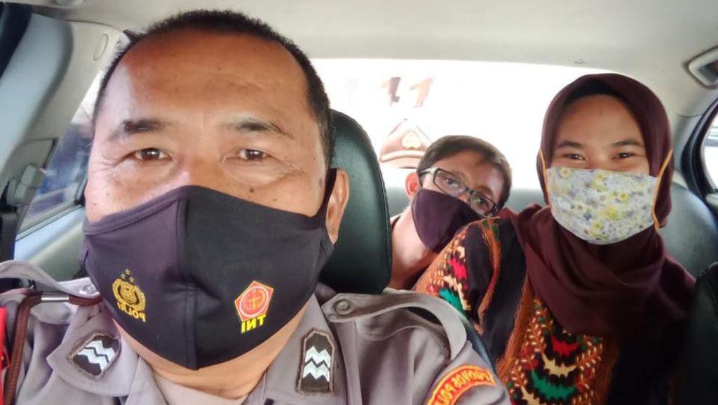 Demi Puaskan Ngidam, Wanita dari Majalengka Ini Ikut Patroli Polisi