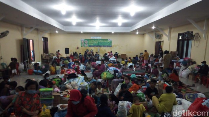 Posko pengungsian korban banjir di Medan, Sumut (Datuk Haris/detikcom)
