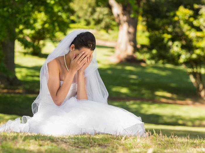 Ilustrasi wanita yang batal nikah.