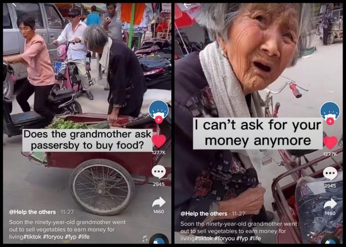 Hiks! Nenek Penjual Sayur Terharu Dagangannya Diborong Segerobak