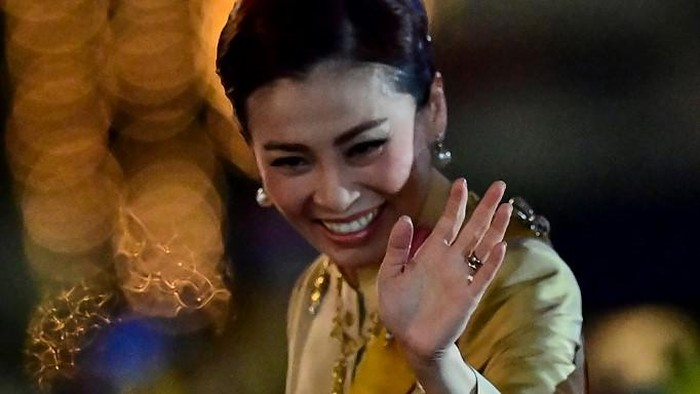 This screengrab from Thai TV Pool video taken on May 1, 2019 shows a ceremony in which Thailands King Maha Vajiralongkorn