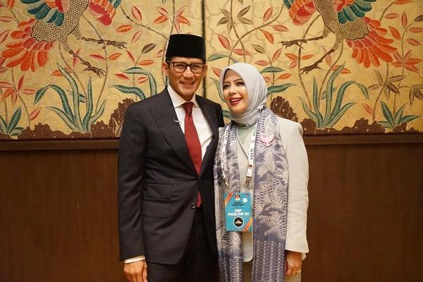 Hari ini Jokowi mengumumkan 6 menteri barunya, salah satunya Sandiaga Uno sebagai Menparekraf. (sandiuno/Instagram)