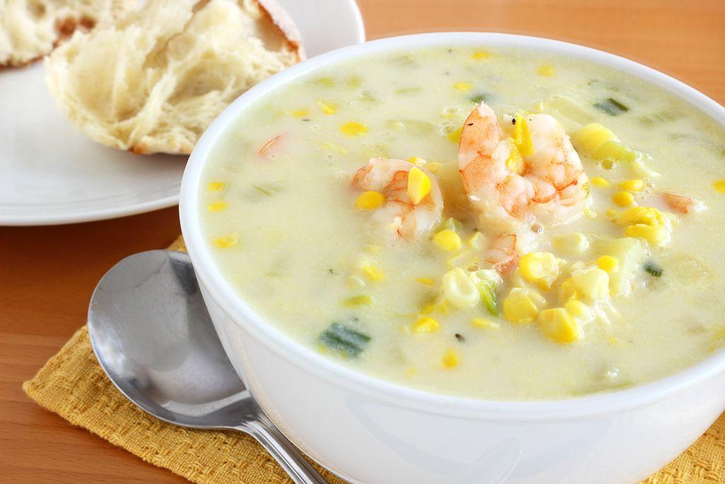 Sup Jagung dan Udang