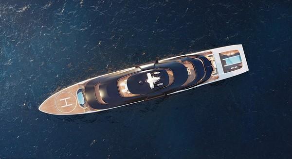 Ultra2, sebuah superyacht yang sangat mewah dibanderol dengan harga 200 juta euro atau sekitar Rp 3,4 triliun. (Hoch3consulting)