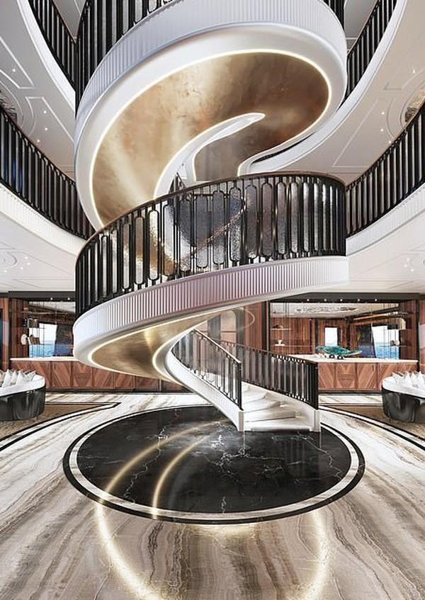 Selain desain mewah, superyacht ini juga memiliki banker atau ruang aman yang aman. (Hoch3consulting)