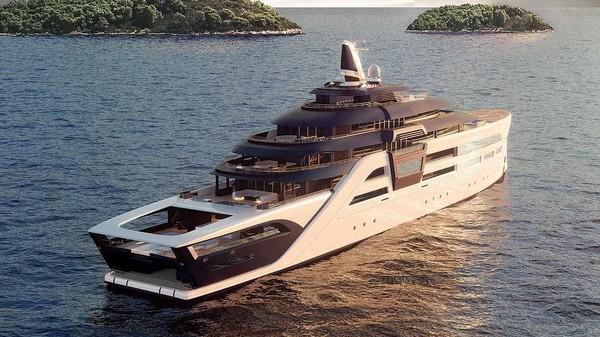 Ini Ultra2, sebuah superyacht dengan banderol 200 juta euro atau sekitar Rp 3,4 triliun. Keunggulannya terletak pada banker yang disebut sebagai benteng terapung mewah di dunia (Foto: Hoch3consulting)
