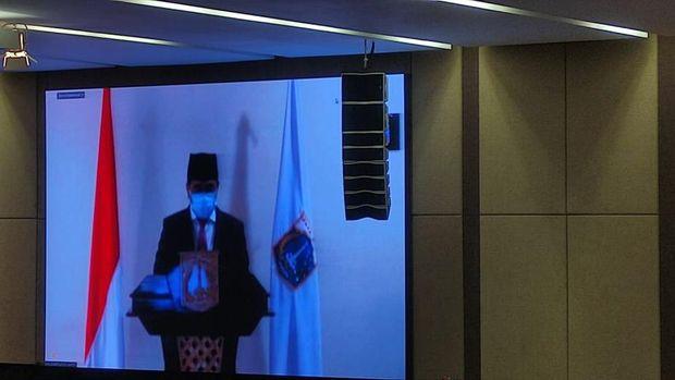 Wagub DKI Jakarta Ahmad Riza Patria Hadir Rapat Paripurna dengan DPRD Secara Virtual