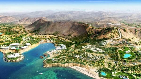 Tak hanya wisata alam, Arab Saudi juga membuat wisata buatan yang megah bernama Amaala Wellness Resort. (Saudi Commission for Tourism and Heritage)