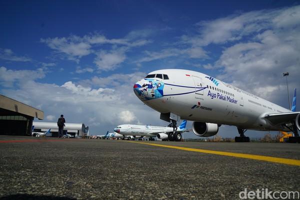 Garuda Indonesia akan memasang desain para pemenang hingga Juli 2021.