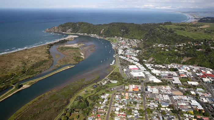 WHAKATANE, NEW ZEALAND - DECEMBER 08: White Island is pictured on December 08, 2020 off the coast of Whakatane, New Zealand. 22 people died following the Whakaari White Island volcano eruption on 9 December 2019. The volcano erupted while 47 people were on the island – including several tour groups and their guides. The 22 victims were from Australia, New Zealand, Germany, China, Britain and Malaysia. (Photo by Phil Walter/Getty Images)