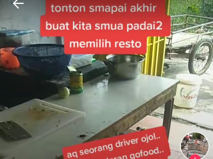 Driver Ojol Ini Beberkan Kondisi Restoran yang Kotor dan Jorok
